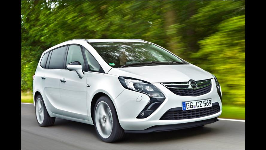 Opel Zafira Tourer ecoFlex: Der Knauser-Van ist unterwegs