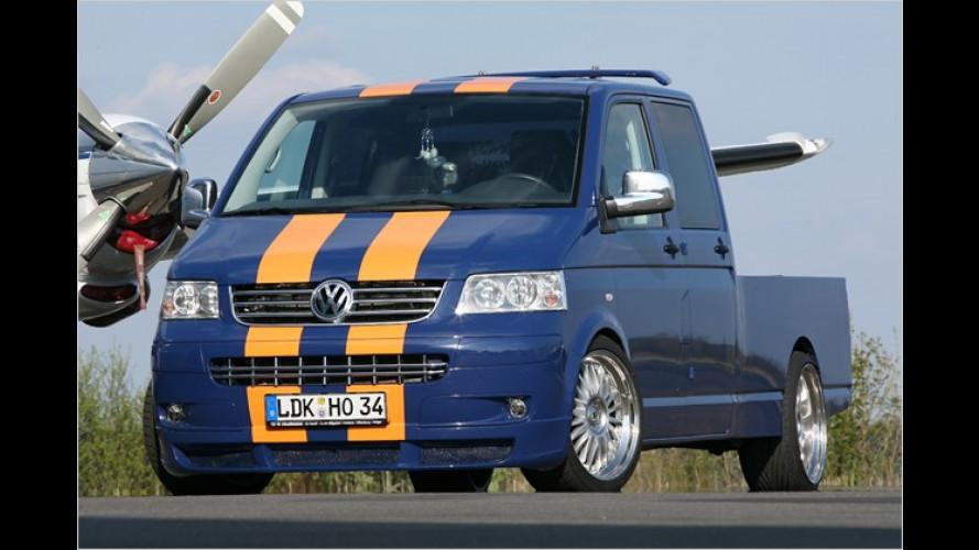 Pimp my Pritsche: VW T5 Doppelkabine im Renntrim