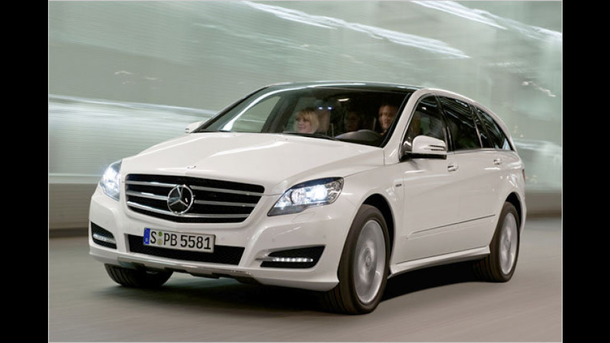 Hübscher und sparsamer: Mercedes R-Klasse neu