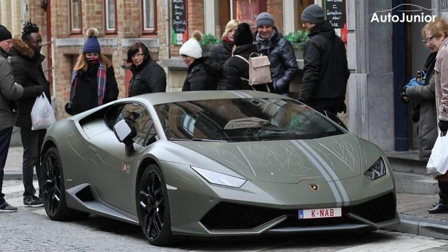 Une Lamborghini Huracán Avio vandalisée en Belgique