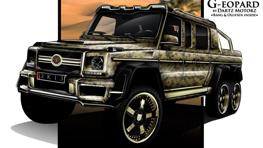 6x6 Mercedes-Benz G63 AMG Sahara G-eopard announced by Dartz