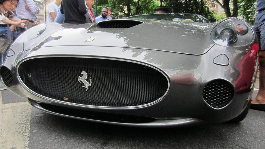 Seventy Ferraris Parked in Central London