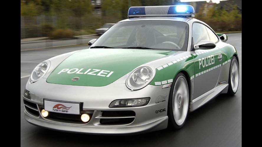 Fast verboten schnell: Techart-Porsche als Polizei-Flitzer