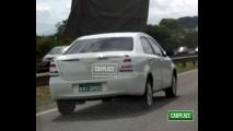 Flagra: Novo Toyota Etios em testes no Brasil - Lançamento será no 2º semestre