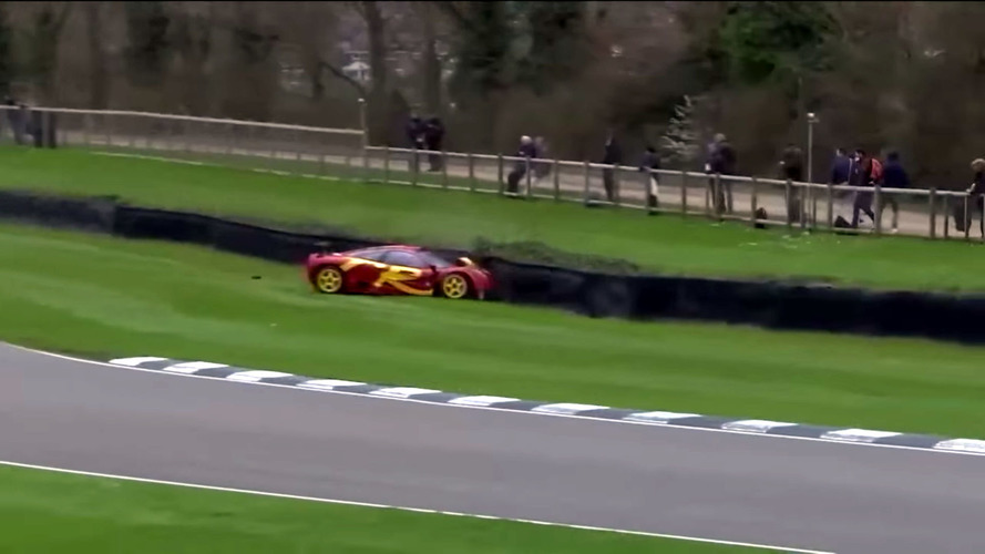 Pink Floyd'dan Nick Mason McLaren F1 GTR'ını duvara vurdu