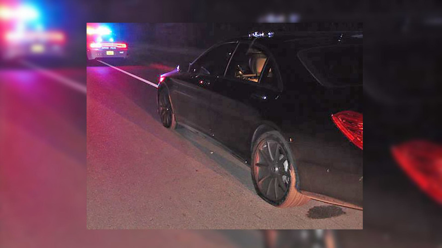 Pics Of Tiger's Smashed Mercedes S65 AMG Surface