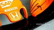 Honda logo on the nose of the McLaren MCL32