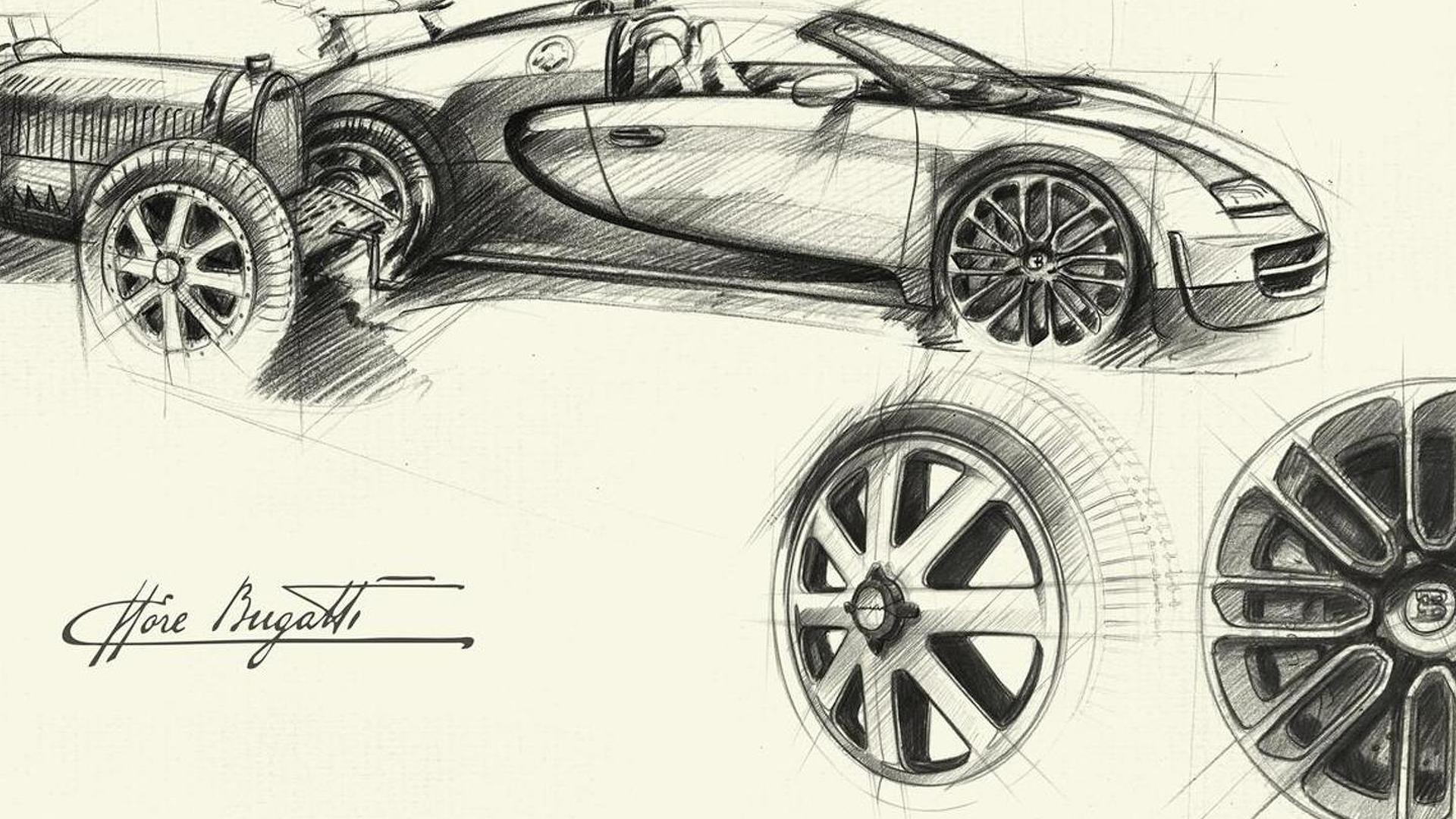 Наброски Bugatti Veyron Ettore Bugatti Edition