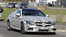Mercedes C63 AMG Coupe spy photo