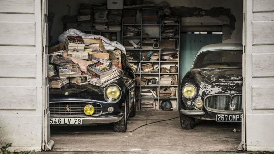 Epic French barn find of 100 cars includes rare Ferrari 250 GT SWB California Spider [video]