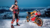 Marc Marquez sur la neige