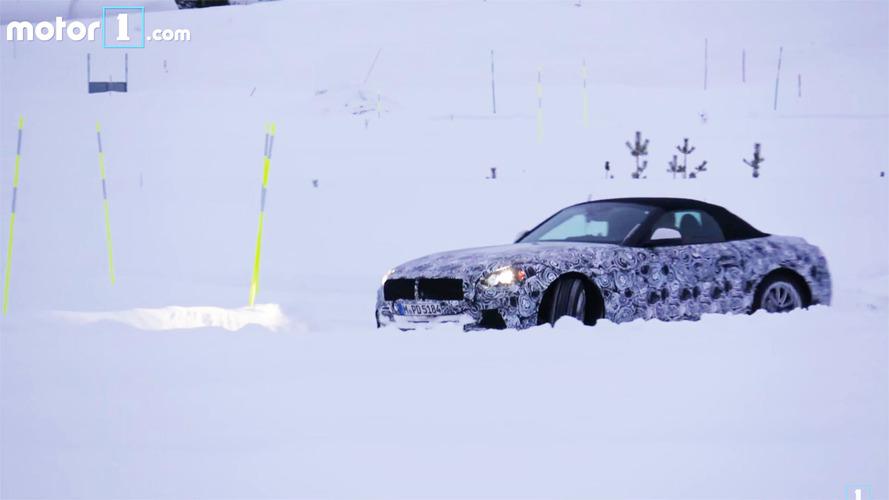 BMW mühendisi Z5 prototipiyle karda eğlenirken görüntülendi