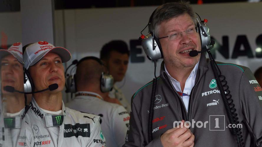 Schumacher showing 'encouraging signs,' says Brawn