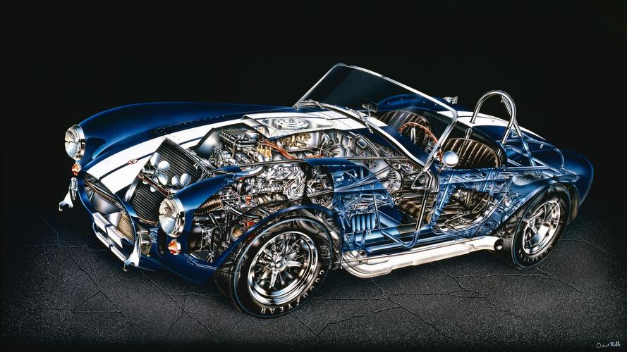 Teknik çizim: Shelby Cobra