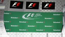 Heineken branding on the podium