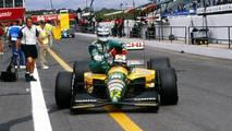 Estoril 1992: Johnny Herbert (Lotus) y Mika Häkkinen (Lotus)
