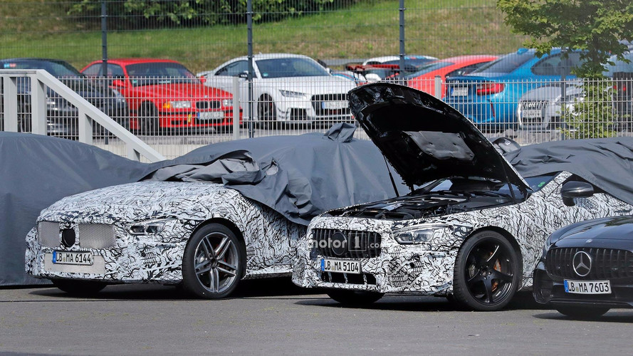 Mercedes-AMG GT4 Sedan Spied Showing Its Cabin And Under Hood