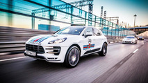 Porsche Macan with Martini Racing livery