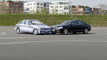 """Automated Driving"" at Mercedes-Benz - For testing future-generation driver assistance the Mercedes-Benz engineers make use of the ""Soft Crash Target."