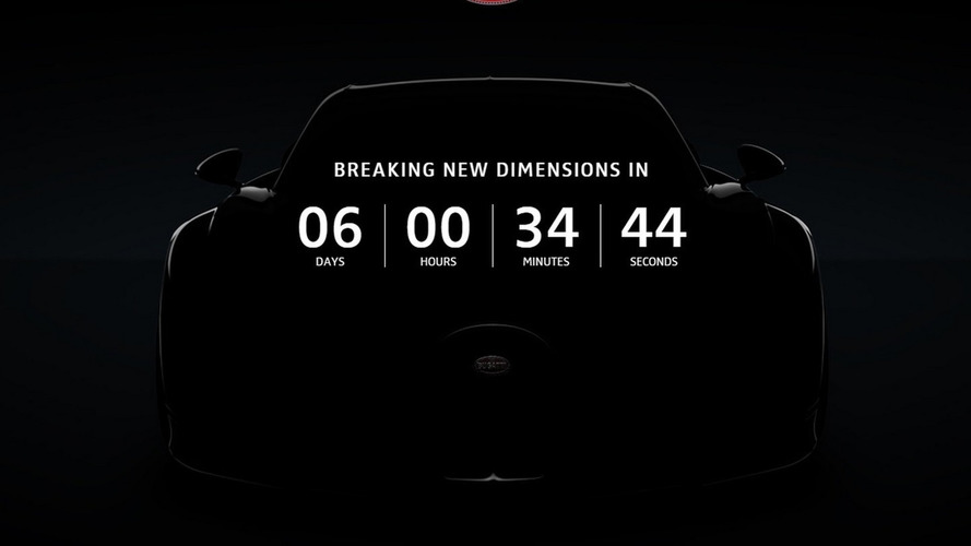 Bugatti Chiron countdown to reveal begins