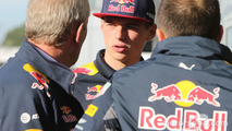 Max Verstappen, Red Bull Racing with Dr Helmut Markom Red Bull Motorsport Consultant