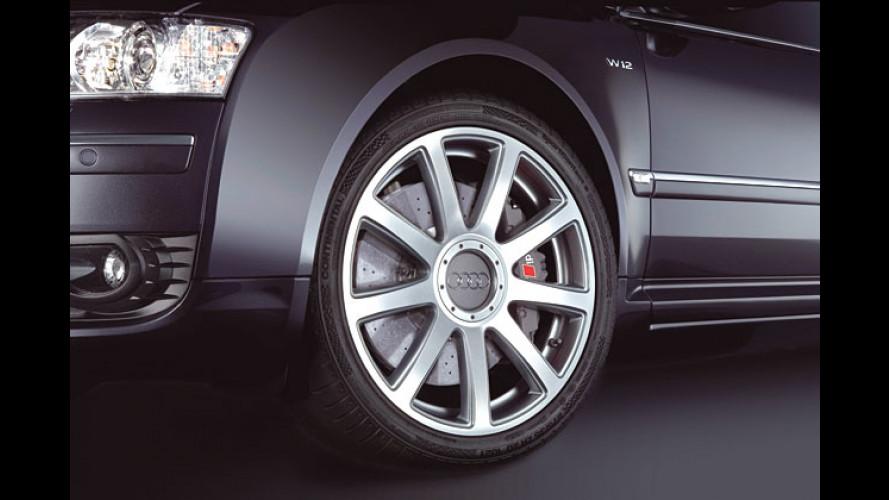 Audi A8 W12: Optionale Hightech-Bremsen aus Keramik
