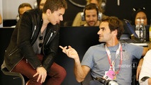 Roger Federer, Tennis Player with Jorge Lorenzo, Ducati Team