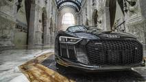 Audi R8 V10 Plus and R8 V10 RWS inside the Al Hazm Mall