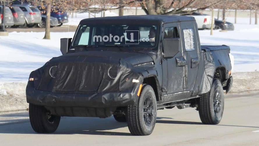 Jeep Scrambler Spied Showing Mostly Unconcealed Tailgate