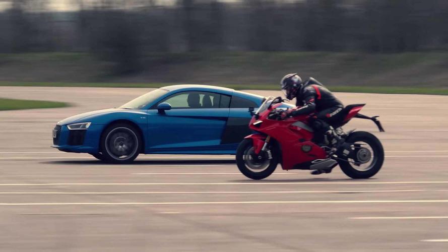 Audi R8, Ducati Panigale V4 ile yarışırsa