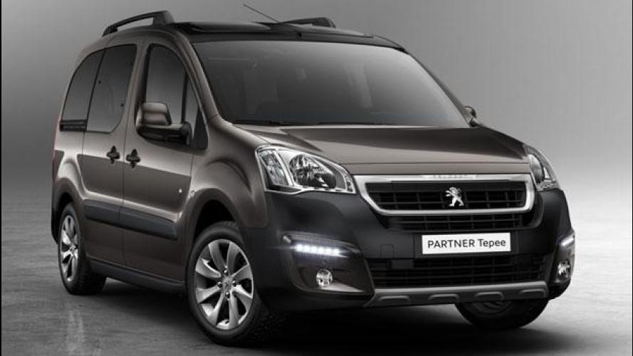 Peugeot Partner Tepee restyling, Euro 6 e più connesso