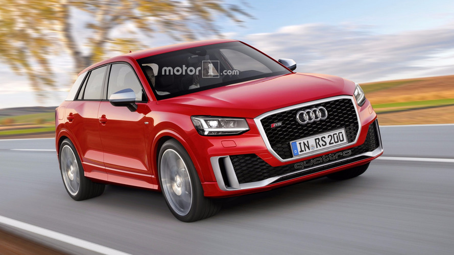 audi sq2 and rs q2 renders illustrate plausible future. Black Bedroom Furniture Sets. Home Design Ideas