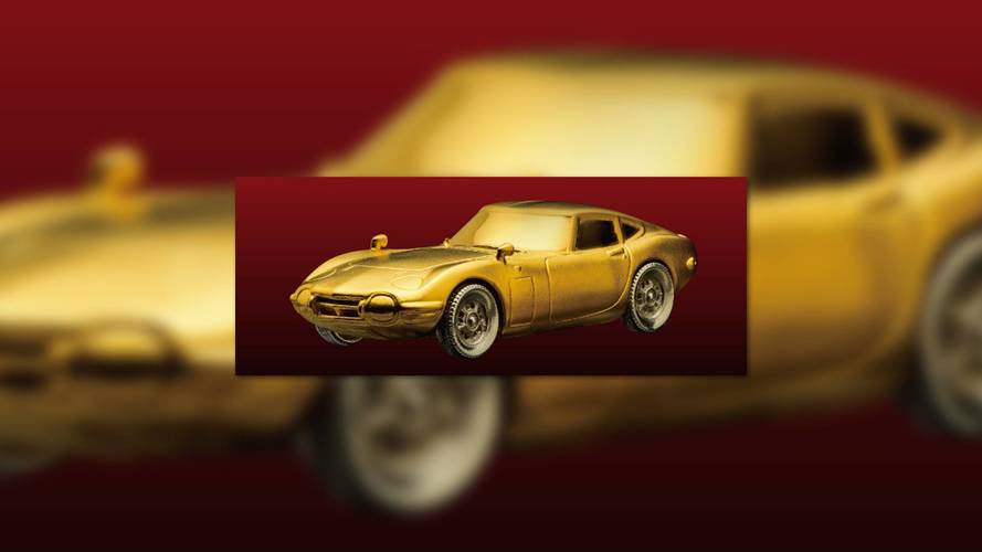 For $11K, You Can Take Home This 24-Karat Gold Toyota 2000GT