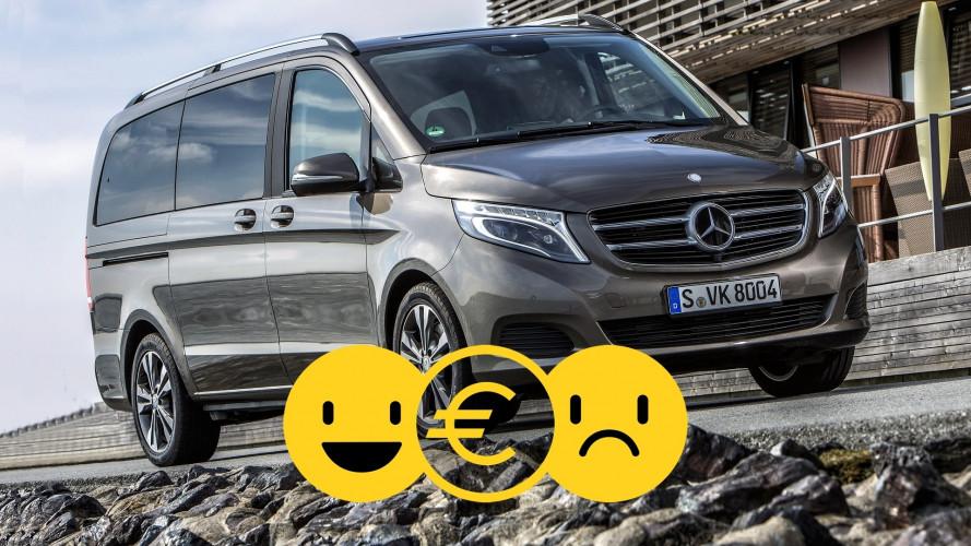 Promozione Mercedes Classe V, perché conviene e perché no
