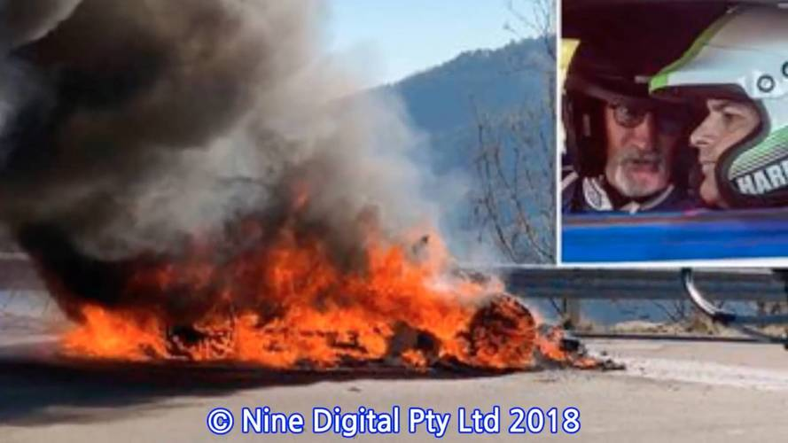 Top Gear Presenters Escape Fiery Alpine A110 While Filming