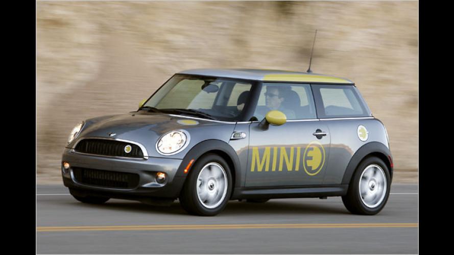 Kleines Auto, große Spannung: Der Mini E im Test