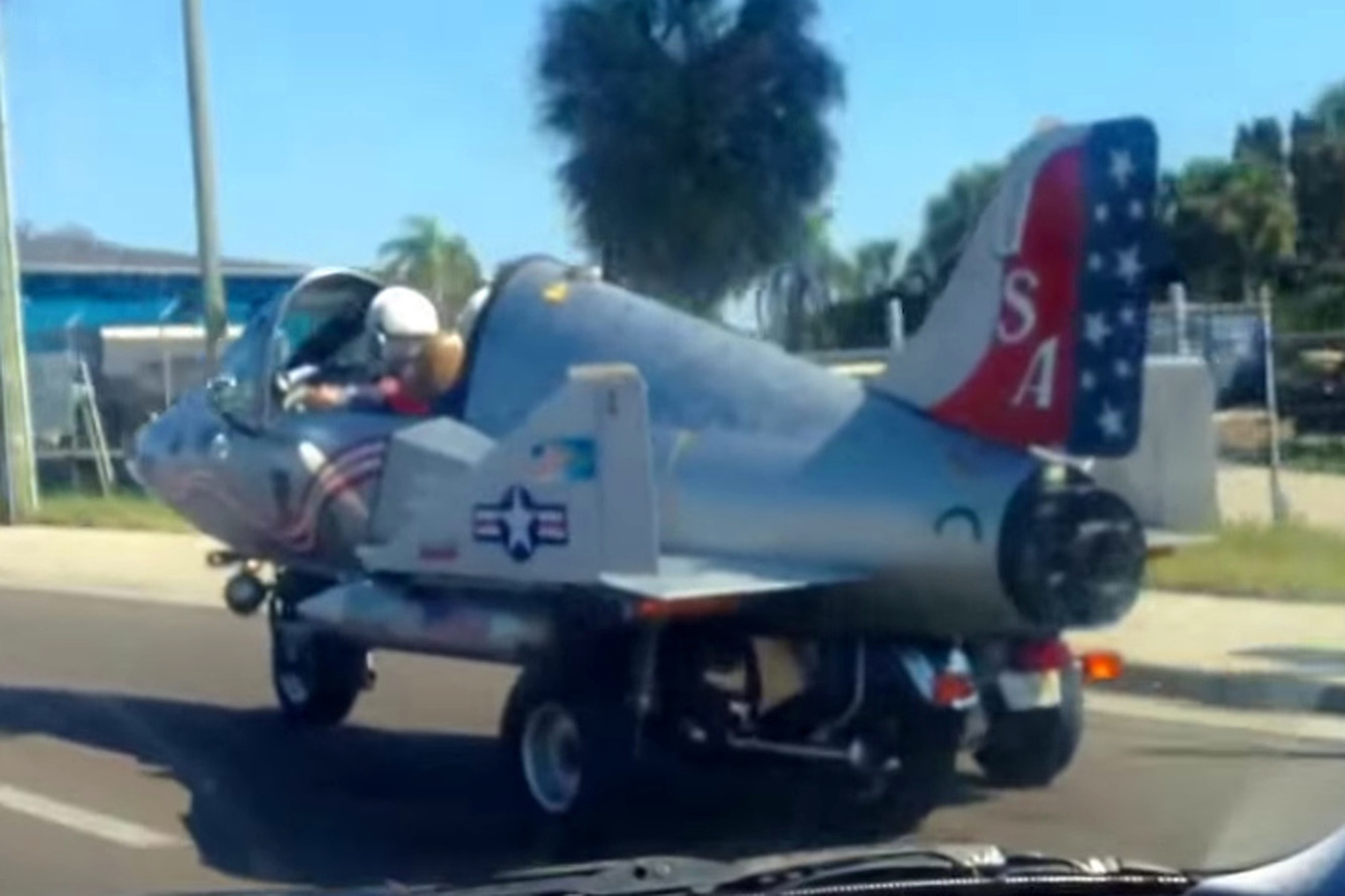 Jet-Themed Road-Going Vehicle Looks like it Could Take Off [video]