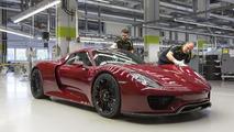 Porsche 918 Spyder'ın üretimi bitti