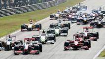 Beginning of the 2009 Italian Grand prix at Monza