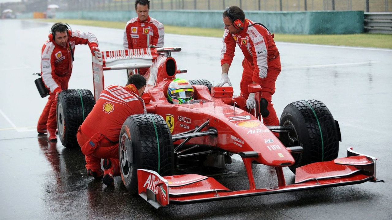 Ferrari Team and Felipe Massa at Chinese Grand Prix 2009