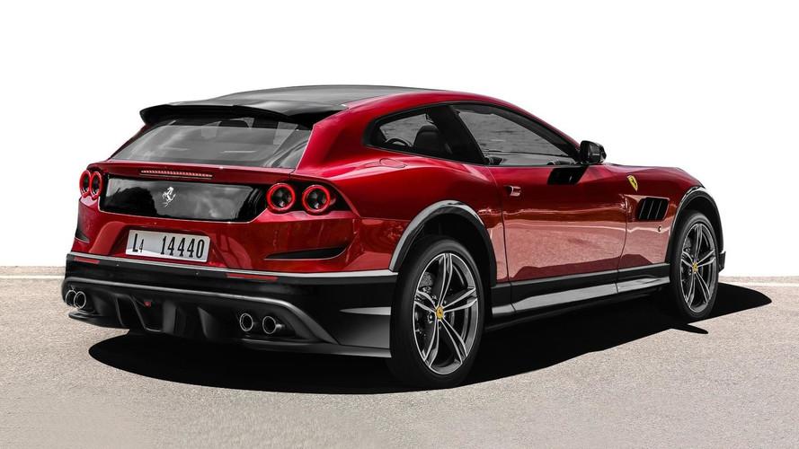 Render Ferrari GTC4Lusso Off Road: imposible quedarse indiferente