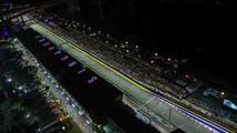 Main straight at Singapore GP