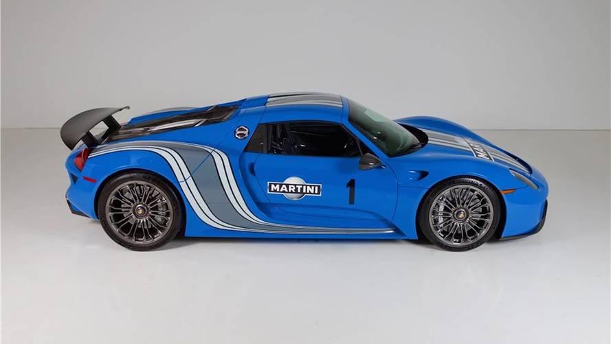 Cette Porsche 918 Voodoo Blue unique est à vendre
