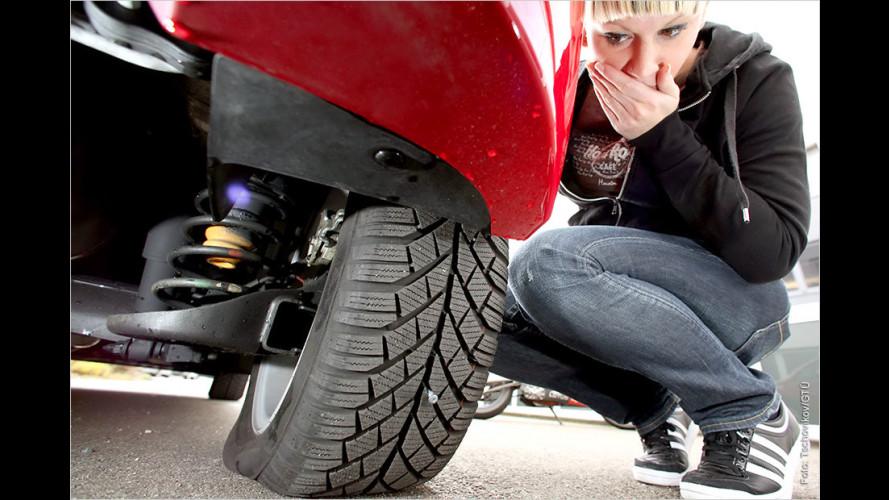 Der Reifen ist platt und das Ersatzrad fehlt?