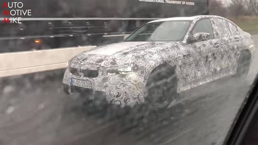 Next-generation BMW 3 Series spotted cruising along the autobahn