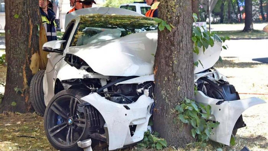 Brand new BMW M4 crashed in Germany