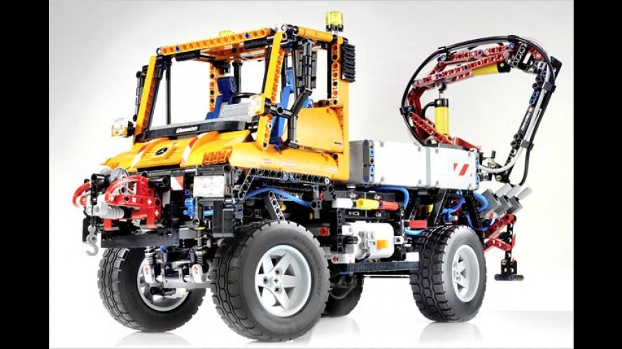 Mit Kran oder Schneepflug: Unimog U 400 von Lego