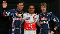 McLaren Mercedes gets provisional pole position with Mark Webber (AUS), Red Bull Racing 2nd and Sebastian Vettel (GER), Red Bull Racing 3rd, Canadian Grand Prix, Saturday Qualifying, 12.06.2010 Montreal, Canada