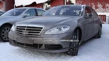 More Mercedes S-Class facelift spy photos plus AMG version