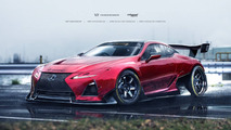 Lexus LC 500 race car render